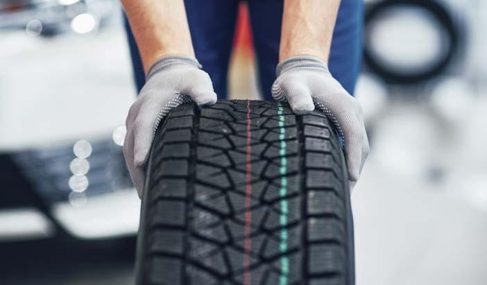 check the tyre pressure